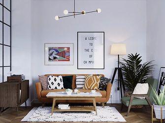 70平米一室两厅混搭风格客厅图