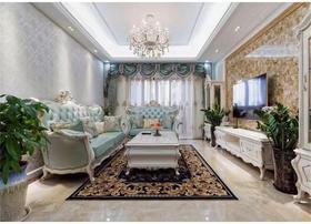 110平米三室一厅欧式风格客厅图