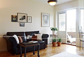 60平米三室一厅田园风格客厅图