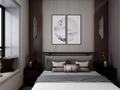120平米三中式风格阳光房设计图