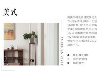 豪华型140平米复式美式风格客厅图片