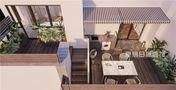 140平米四室两厅法式风格阳台效果图