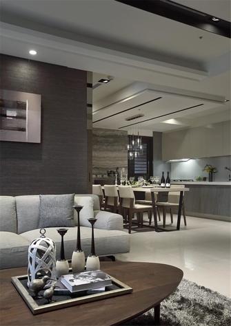 140平米三室两厅现代简约风格餐厅欣赏图