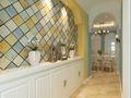 110平米三室一厅地中海风格玄关欣赏图