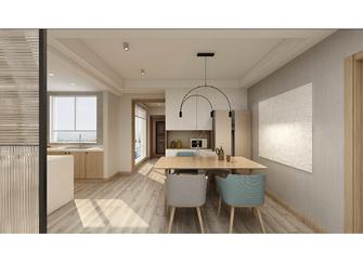120平米三室两厅日式风格餐厅设计图