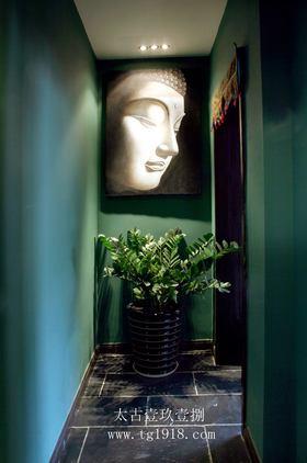 富裕型110平米三室兩廳中式風格走廊效果圖
