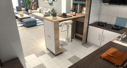 80平米一居室现代简约风格餐厅装修案例