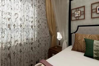 50平米公寓中式风格卧室图