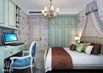 140平米三室两厅田园风格卧室图片