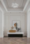 140平米三室一厅法式风格玄关欣赏图