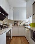 110平米三室一厅田园风格厨房图片