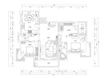 豪华型140平米三室三厅欧式风格其他区域装修效果图