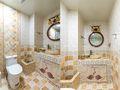 120平米三室两厅田园风格卫生间装修案例