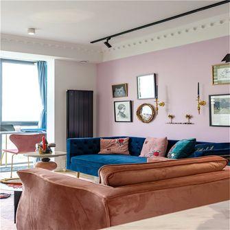 90平米三室一厅英伦风格客厅装修案例