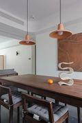 120平米三室两厅宜家风格餐厅图