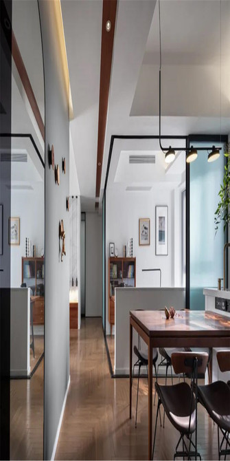 130平米三室一厅新古典风格餐厅装修图片大全