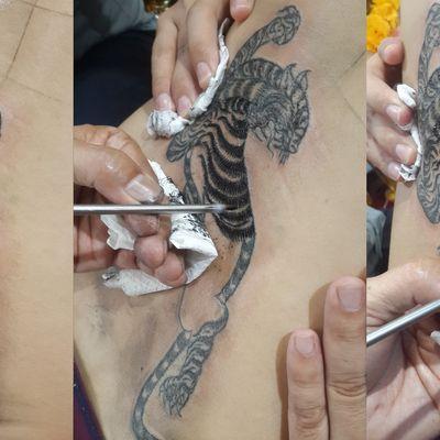 老虎刺符纹身款式图