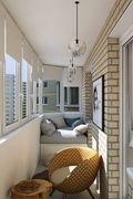 50平米一室两厅北欧风格阳台设计图