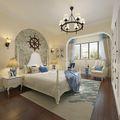 90平米一居室地中海风格卧室欣赏图