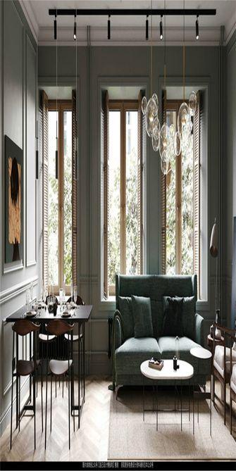 70平米一居室美式风格客厅图