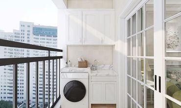 100平米三室一厅田园风格阳台欣赏图