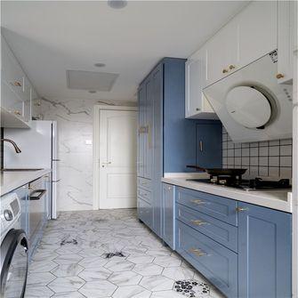 90平米三室一厅英伦风格厨房效果图
