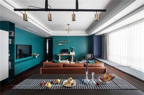 120平米三室一廳現代簡約風格客廳裝修案例