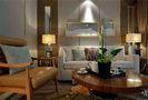 140平米三室两厅现代简约风格客厅沙发装修图片大全