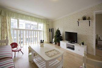 130平米四室一厅田园风格客厅图片