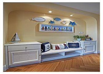 120平米三室一厅田园风格客厅装修图片大全