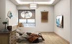 90平米三室两厅日式风格卧室设计图