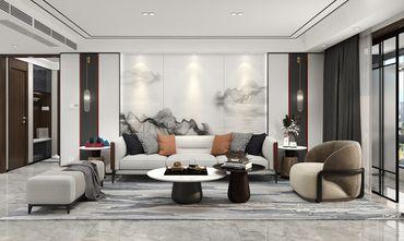 120平米三室两厅田园风格客厅图片大全