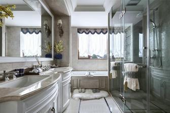 130平米一室一厅法式风格卫生间欣赏图