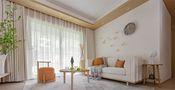 70平米一室一厅日式风格客厅图