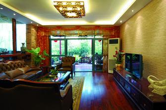 富裕型130平米四室一厅东南亚风格客厅效果图