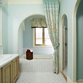 140平米三室一厅田园风格卫生间图片