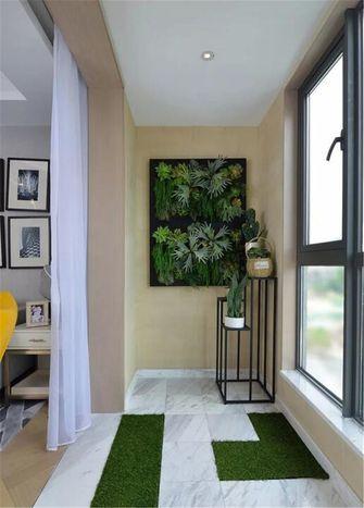90平米三室两厅北欧风格阳台装修效果图