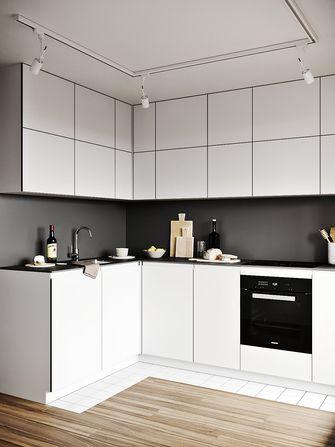 90平米三室一厅现代简约风格厨房装修案例