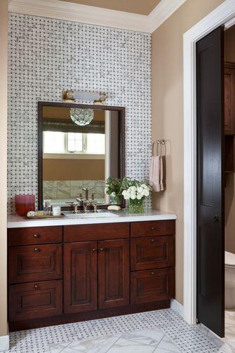 50平米一居室美式风格卫生间效果图