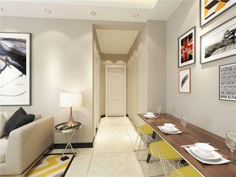 80平米现代简约风格玄关沙发图