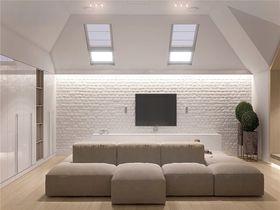 100平米三室一廳北歐風格客廳圖片大全