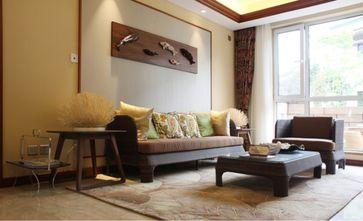 140平米四室一厅东南亚风格客厅图