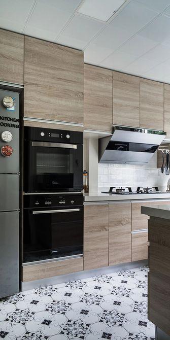 经济型100平米三室一厅混搭风格厨房图