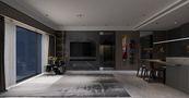 100平米三室一厅混搭风格影音室装修图片大全