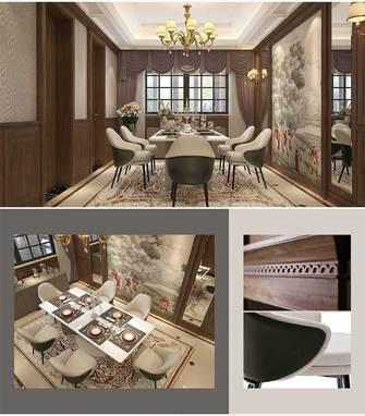 140平米三室两厅新古典风格餐厅图片大全
