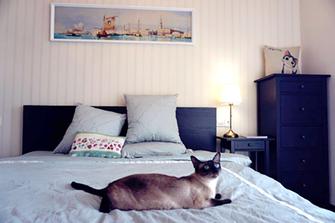 140平米三室两厅英伦风格卧室图
