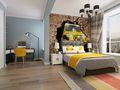 140平米三室两厅中式风格阳光房设计图