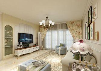 120平米三室两厅田园风格客厅图