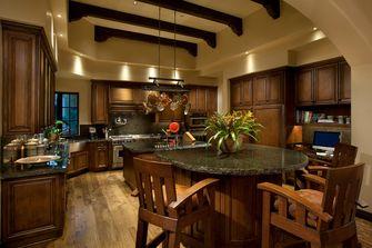 120平米三地中海风格厨房装修图片大全