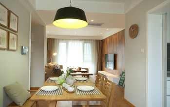 130平米三室两厅田园风格餐厅设计图